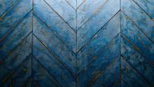 Herringbone Blue Wood Parquet,...