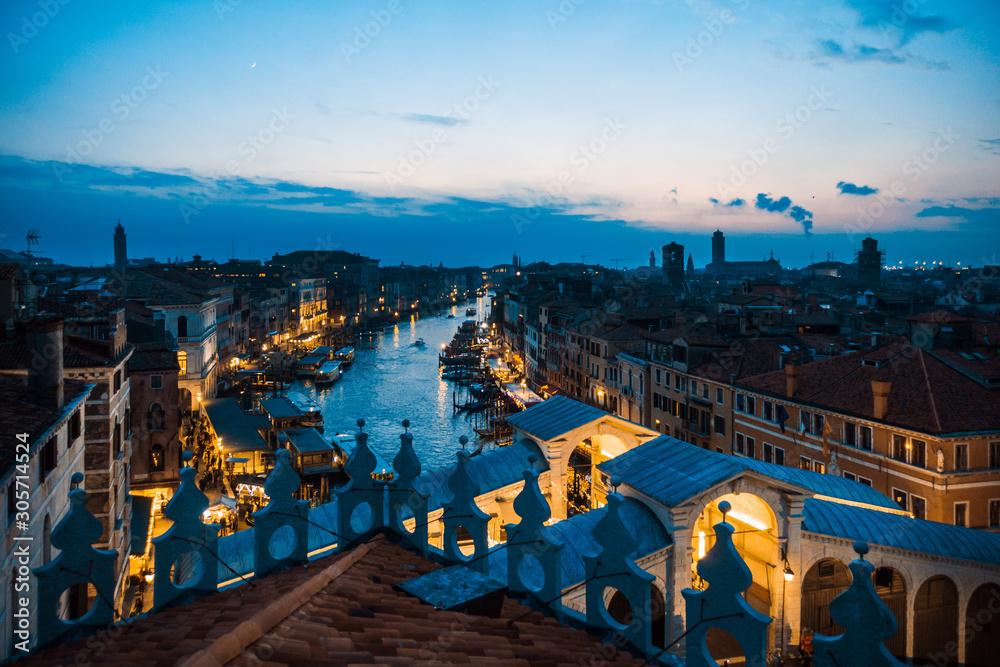 VENICE, ITALY - December 21, 2017 : Venice City View, ITALY
