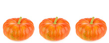 Ripe Pumpkins Isolated On Whit...