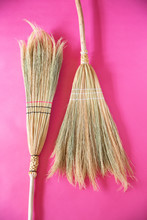 Detail Of Handmade Brooms