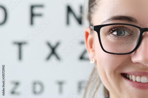 Fotografía Pretty oculist in clinic