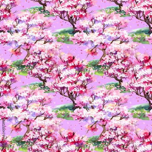 bezszwowy-wzor-sakura-drzewa-kwitnie-w-wiosnie-na-rozowym-tle-reka-rysunku-druku-dla-tkaniny-i-innych-projektach-akwarela
