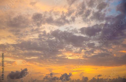 Fototapety, obrazy:  orange sunset sky. Beautiful sky.