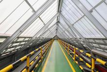 Roof Walkways With In Industrial Plants.