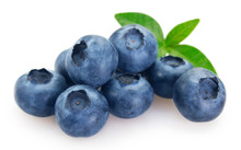 Fresh Blueberry On White Backg...