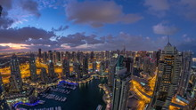 Dubai Marina Skyscrapers And J...