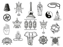 Buddhism Religion Sketches Wit...