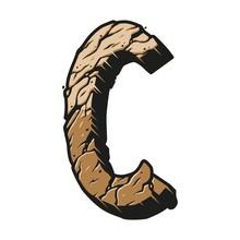 Letter C Colorful Desert Concept