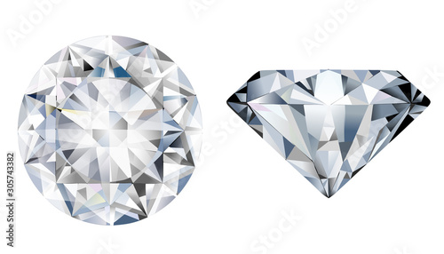 Leinwand Poster diamond isolated on white background