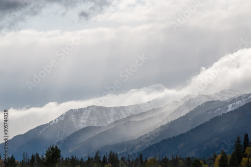 Stormy Landscape in Autumn in the Tetons