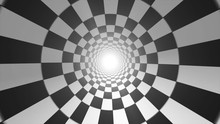 Abstract Checkerboard Vortex Background Seamless Looping/ 4k Animation Of An Abstract Black And White Tiles Vortex Background With Checkerboard Seamless Looping