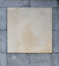 Blank Memorial Plaque Of A Whi...