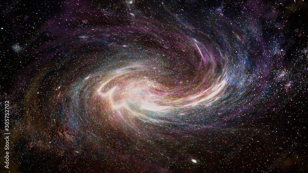 Fototapeta Abstract galaxy and nebula illustration