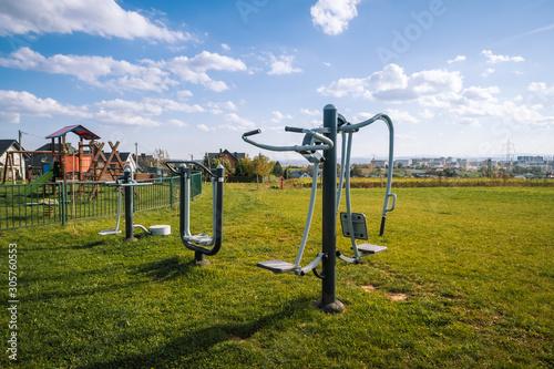 Fototapeta premium siłownia w parku