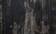 Black Wood Painted Old Planks