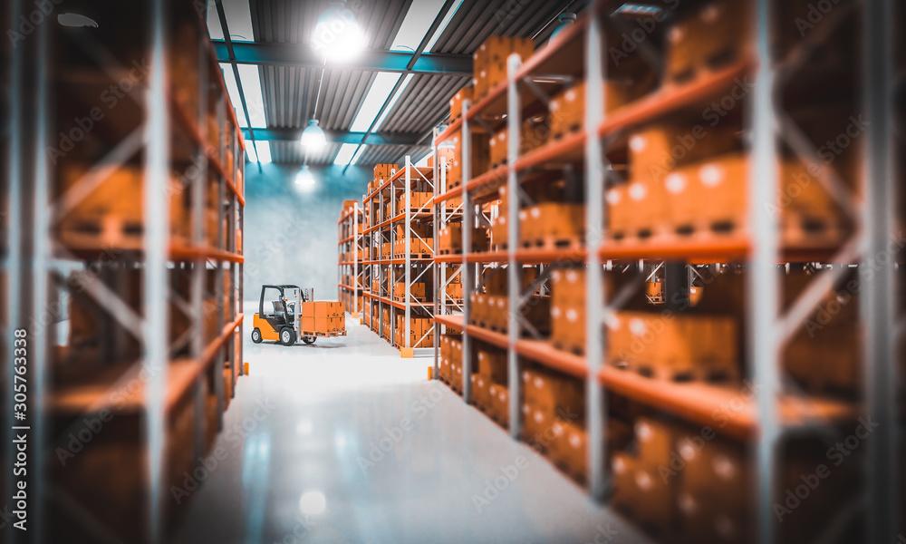 Fototapeta warehouse indoor view
