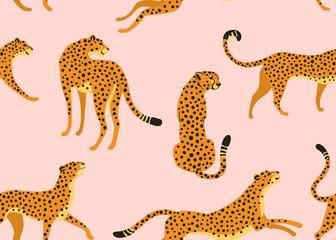 FototapetaAbstract leopard pattern. Vector seamless texture. Trendy Illustration.
