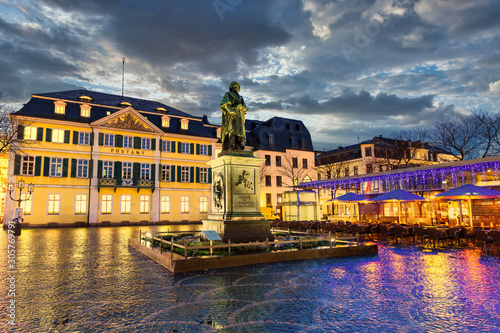 Central Place in Bonn with Beethoven Staue in front Wallpaper Mural