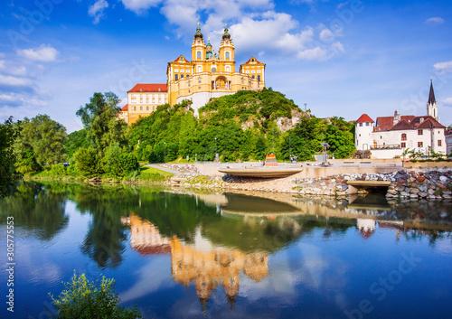 Photo Melk, Austria. Benedictine abbey.