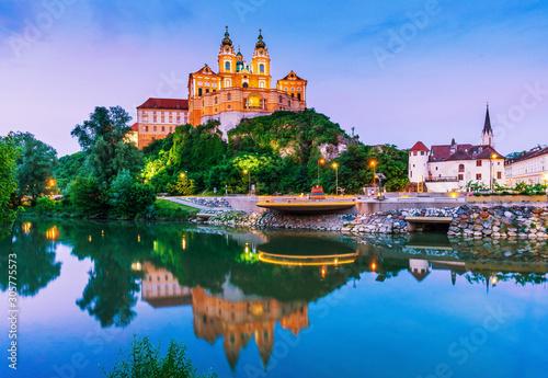 Canvastavla Melk, Austria. Benedictine abbey.