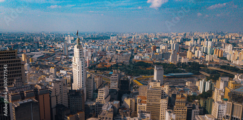 Obraz na plátne São Paulo SP Capital Vale Anhangabaú Prefeitura Theatro Municipal