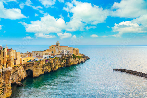 Fotografie, Obraz Vieste town on the rocks, Gargano, Apulia, Italy.