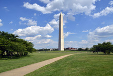 Washington Monument With Green...