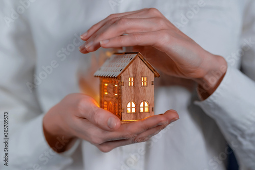 Fotomural concept technology protection of the house from the cold