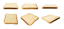 Set Of Bread Slices Isolated O...