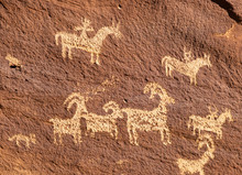 Ute Petroglyphs, Delicate Arch Hiking Trail, Arches National Park, Adjacent To The Colorado River, Moab, Utah, USA