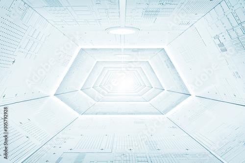 futuristic-sci-fi-spaceship-corridor-interior-with-light-panels-3d-rendering