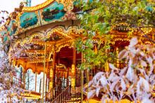 Vintage Carousel And Winter De...