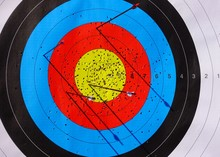 Archery Target On The Competition Field