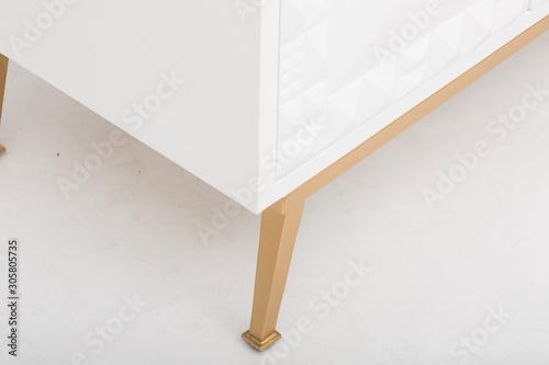 Valokuva Large Vintage Sideboard, Two Shelf Horizontal Cube, Sideboard Weiss Shabby Sideboard, sideboard S6 multicoloured