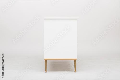 Fotografija Large Vintage Sideboard, Two Shelf Horizontal Cube, Sideboard Weiss Shabby Sideboard, sideboard S6 multicoloured