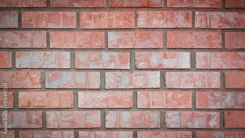 Red and White Brick Wall with Vignette, Widescreen