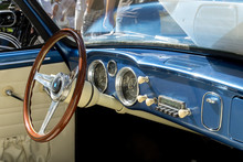 Dashboard Of A Classic Old Car