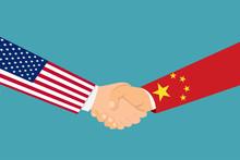 Handshaking Of China And Unite...