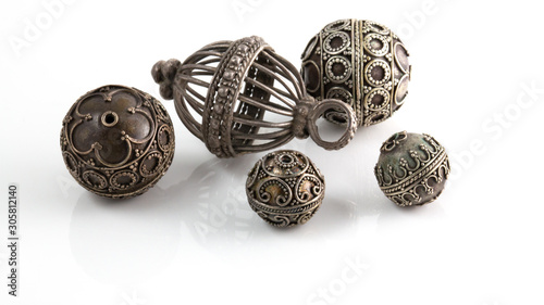 Photo A group of antique beads from Oman