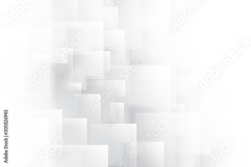 Abstract geometric white and gray color background. Vector, illustration. © BK_graphic