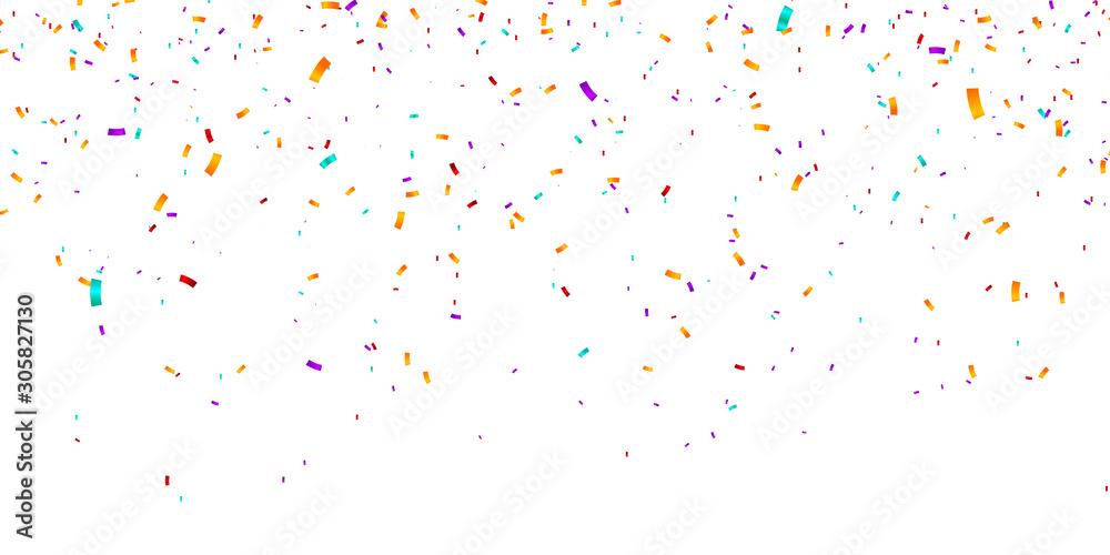 Fototapeta Confetti Background. Vector illustration confetti background. Party and birthday confetti vector background
