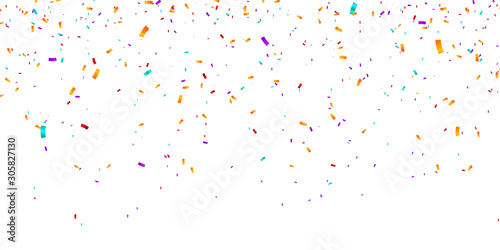 Obraz Confetti Background. Vector illustration confetti background. Party and birthday confetti vector background - fototapety do salonu