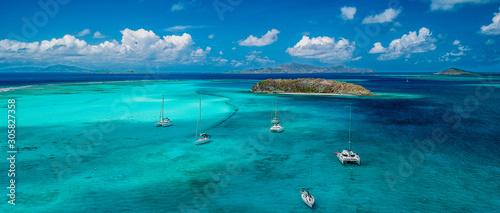 Papel de parede Vue aérienne des Grenadines.