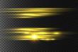 Yellow horizontal rays.