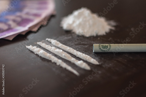 Buying drugs. Addiction Wallpaper Mural