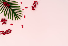 Palm Tree With Red Cherry On P...