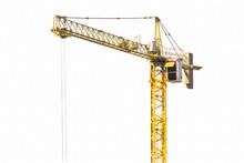 Construction Crane On Blue Sky...