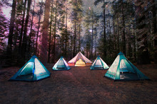 Mystical Camping Under The Nig...