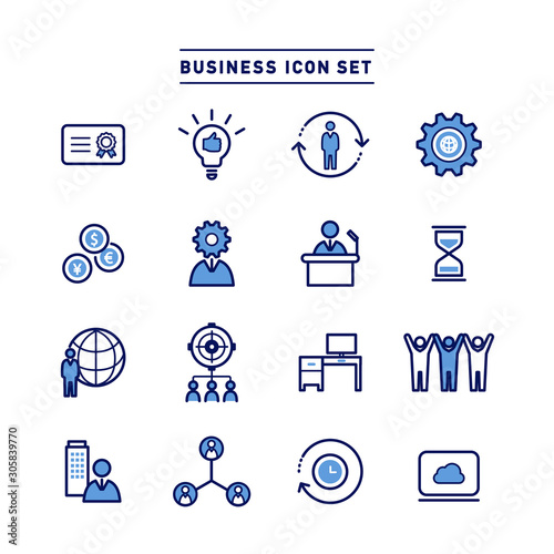 BUSINESS ICON SET Canvas Print
