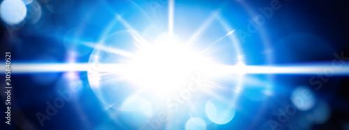 Obraz 青い光線 - fototapety do salonu